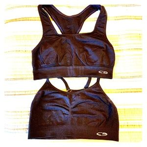 Champion Set of 2 Sport Bras Size S small black